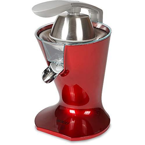 SOGO Exprimidor Eléctrico de zumo para cítricos Con filtro para pulpa y palanca SS-5295-R, Color: rojo
