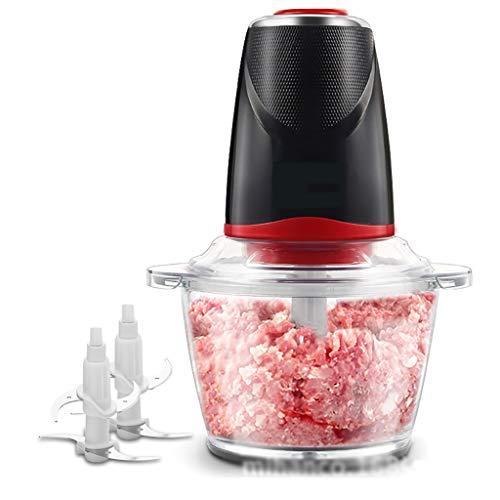 Howard Anne Chopper per Cibo Elettrico, Robot da Cucina a 5 Tazze, macinacaffè in Vetro da 1,2 Litri per Carne, Verdura, Frutta e Noci, unità Motore in Acciaio Inossidabile e 4 Lame affilate, 200 W