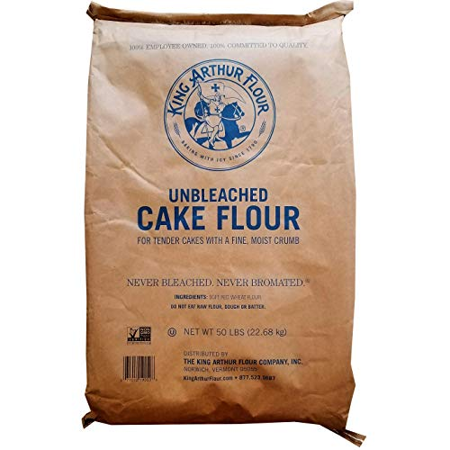 50 LB King Arthur Cake Flour | Never Bleached Never Bromated | For Tender Cakes With A Fine, Moist Crumb