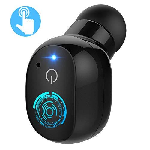 【Nuevo Versión】Mpow Mini Auricular Bluetooth, Inalámbraco con Control táctil, Auricular Invisible Manos Libres Inteligencia de Película Táctil In-Ear con 2 USB Magnéticos para Usar en Coche y Oficina