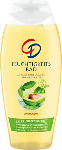 CD Feuchtigkeitsbad Avocado/Veganer Badezusatz mit zart-frischem Duft für trockene Haut, 500 ml