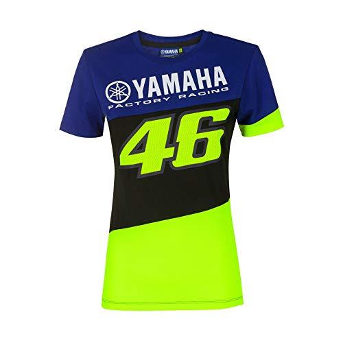 Valentino Rossi T-Shirt Femme VR46 Yamaha Factory M1 Racing Officiel MotoGP Bleu - L