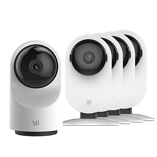 YI AI-Powered Indoor Security Camera Bundle Set, 2.4G Wi-Fi Smart Home Surveillance System with 24/7 Emergency Response, Human Detection, App - 1080P Home Camera 4pc and Dome Camera X Nevada