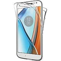 "AICEK Funda Moto G4 / Moto G4 Plus, Transparente Silicona 360°Full Body Fundas para Motorola Moto G4 Carcasa Silicona Funda Case (5.5"")"