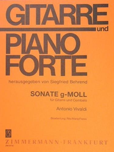 Sonate g-Moll: Gitarre und Cembalo (Klavier). (Gitarre und Pianoforte)