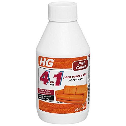 HG 4 en 1 para Cuero y Piel el Limpiador de Cuero que Nutre, Protege y Mantiene el Cuero (172030130), Blanco, 250Ml