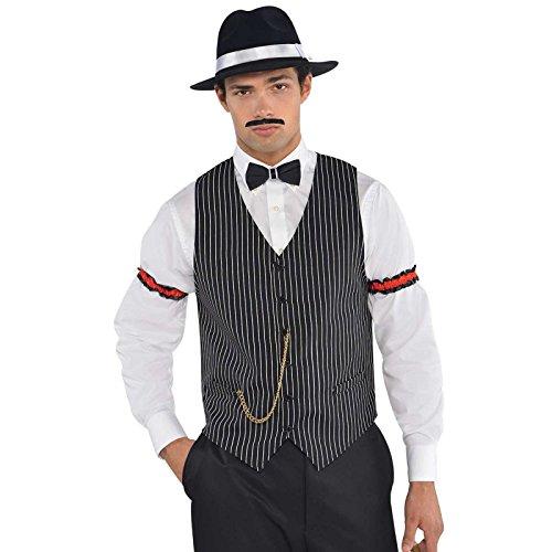 Accesorio de disfraz de chaleco de gnster de la mafia de los aos 20, Gatsby, para hombre
