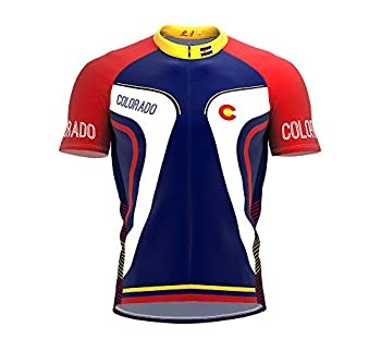 ScudoPro Colorado Bike Short Sleeve Cycling Jersey for Men - Size L