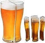ZHIRCEKE Vier an einem Bierglas Funktionelle Bier Gläser weizenglas 4er Set Weißbierglas...