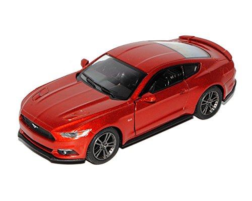 Kinsmart Ford Mustang VI Coupe Metallic Rot Ab 2014 ca 1/43 1/36-1/46 Modell Auto mit individiuellem Wunschkennzeichen