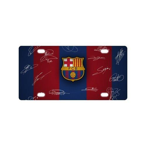 Custom License Plate Barcelona FC Metal License Plate Custom Car Tag 4 Holes 12x6 inch