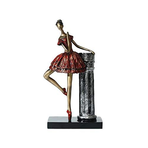 Ballet Girl ornement de danse décoration de danse rouge néoclassique entrée de style chinois moderne salon Rollsnownow (Couleur : D)