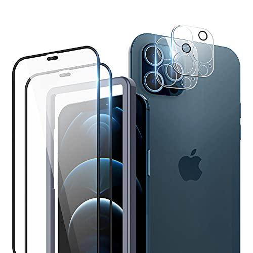 TOCOL 4 Piezas Protector de Pantalla para iPhone 12 Pro 5G 2...