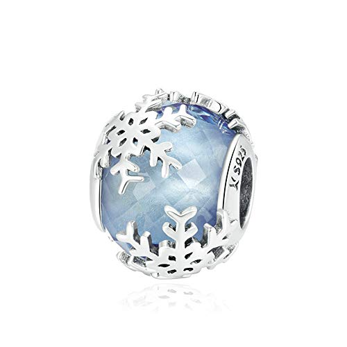 925 Sterling Silver Snowflake Charms Beads Christmas Gift Fit European Women Diy Bracelets Necklaces