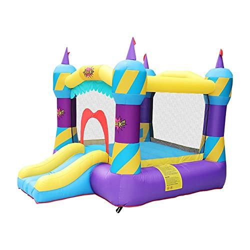 DHTOMC Niños Castillo Hinchable Slide Juguete del pequeño trampolín Castillo Inflable al Aire Libre del Equipo del Juego Niños Niños púrpura Inflable casa de la Despedida