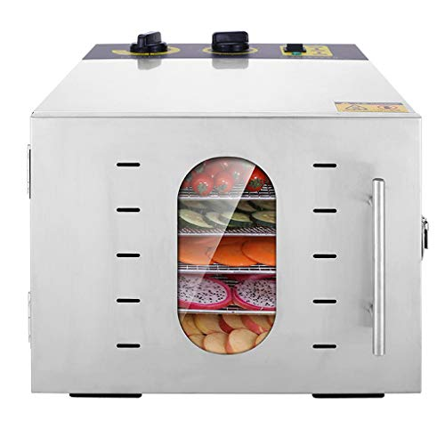 Best Prices! Food Dried Fruit Machine 6-layer Multifunctional Electric Home and Business Dual-purpose Fruit and Vegetable Dehydrator, Can be Timed, 30~90 ℃ Temperature Control