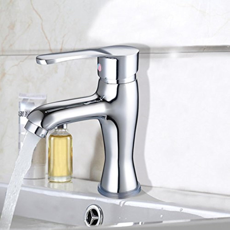 ETERNAL QUALITY Badezimmer Waschbecken Wasserhahn Messing Hahn Waschraum Mischer Mischbatterie Tippen Sie auf die Kupfer heie und kalte Waschbecken Wasserhahn Einzelne B