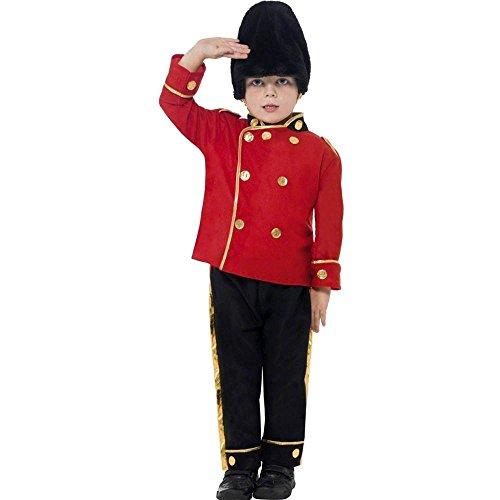 Smiffys-26859S Disfraz de Guardia Alto, con Top, Pantalones y Gorro, Color Rojo, S-Edad 4-6 años (Smiffy'S 26859S)