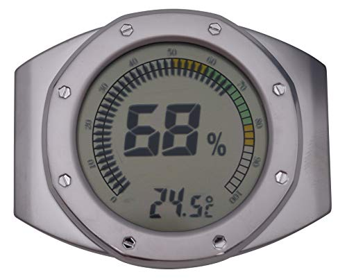 GERMANUS Kalibrierbarer Hygrometer für Humidor, digital - Rund V