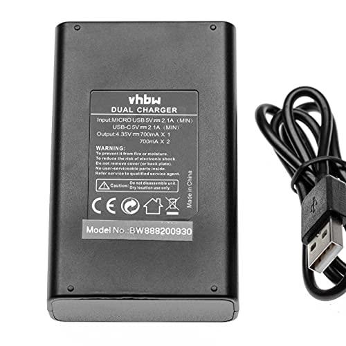 vhbw caricabatterie USB duale compatibile con DJI AB1 camera - Stazione di ricarica