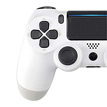 Goukano 4th Generation V2 PS4 Controller Wireless for PC/PS4/STEAM Stress Relief Anti-Stress Toys 1 Pack  White  Snowflake Key