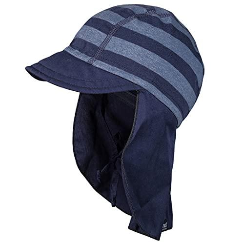 maximo Gorra con visera y protección para la nuca azul 53 cm