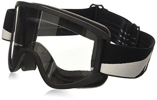 Biltwell M2BLTBKWT Script Bolt Moto 2.0 Schutzbrille, Schwarz, Einheitsgröße