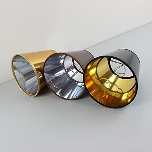 WNAVX 2 unids Plata Oro Negro Color marrón pequeño plástico Reflector lámpara Sombras, Clip en (Body Color : Silver)