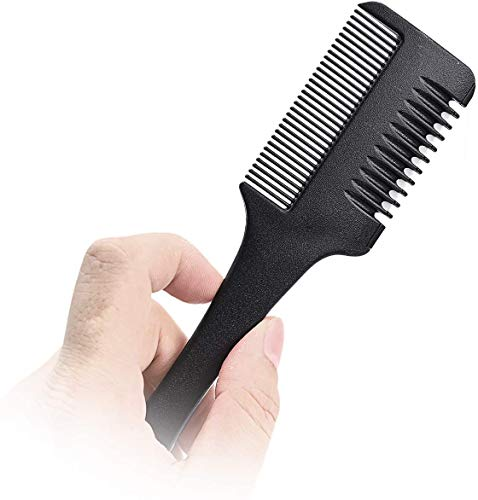 Hair Cutter Comb,Etercycle Hair Thinner Razor Comb with extra 10 Pcs Replacement Razors, Hair Thinning Comb Slim Hair Cutting Trimming Comb Tool for Thin & Thick Hair (1 Pack)