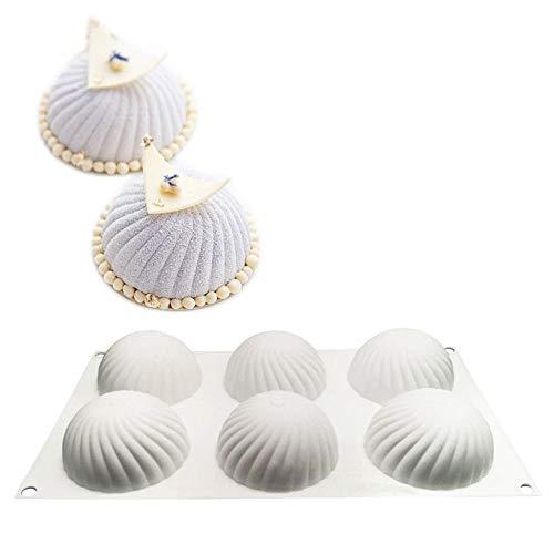 ZOOENIE 3D Silikon-Formen Geräte für die Kuchenverzierung, Mousse-Form, Backwaren, Desserts Form, Kuchenform, für das Cupcake Backen, Seife Backform, Gelee, Pudding, Schokolade (Strudel)