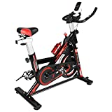 naspaluro Exercise Bikes, Stationary Infinite Resistance Spin Bike with Phone Holder/Heart Moniter/LCD...