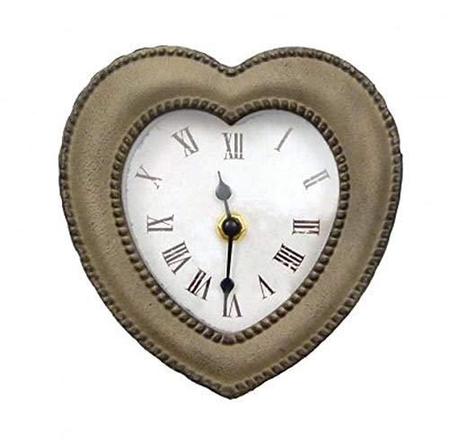 Landhaus Impressionen Romantische Wanduhr Herz Uhr Metallrahmen Vintage