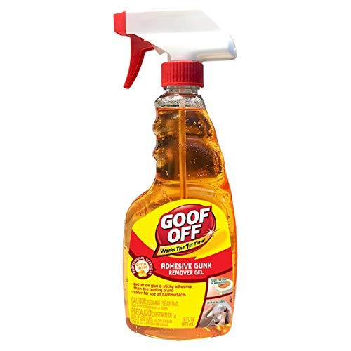 Goof Off FG796, removedor de goma adhesiva, 16 oz botella de pulverizador, naranja, 16 onzas líquidas