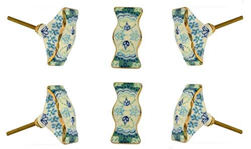 TRINCA-FERRO Conjunto de 6 puerta del gabinete de cerámica maneja Wingmore diámetro de 60 mm cajón de la cómoda de tren Schrankgriff