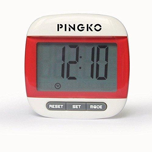 Podómetro con clip Pingko de calidad superior, cuenta pasos de precisión, en millas y kilómetros, con contador de calorías y temporizador de ejercicio