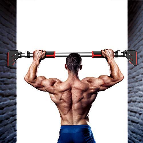 DEDAKJ Pull Up Bar, Pullup Bar Chin Up Bar for Doorway Home Gym Equipment Adjustable Width - 660 LBS (28.4-37.8)