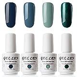 Vernis Gel Semi Permanent - Gellen Vernis à Ongles Nail Gel UV LED Soak off Manucure Kit 4×8ml,Nouveauté 02