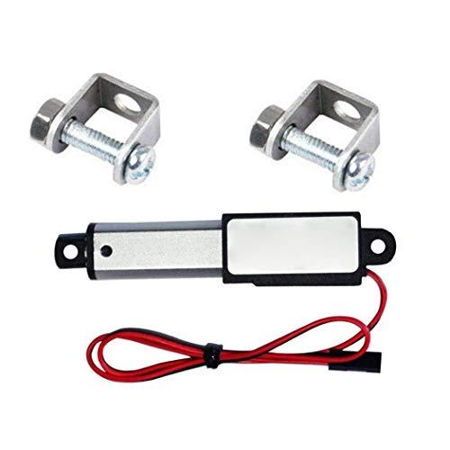 TOPofly Actuador Lineal Micro Mini eléctrico a Prueba de Agua con Soportes de Montaje para el Coche Auto 12V 30N Velocidad de 30 mm Longitud 50 mm