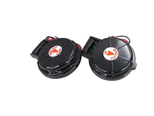 Pactrade - Interruptor de pie Compacto para Barco Marino con Anclaje de Viento, Color Negro, 2 Unidades de Arriba y Abajo 12/24 V 5 A