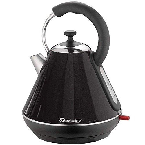 Legacy 1.8l cordless elettrico bollitore veloce filtro lavabile 360° base caffè tè bollitore dell' acqua calda 2200W onice nera da cucina, casa e prodotti elettrici by Exxcel creazione