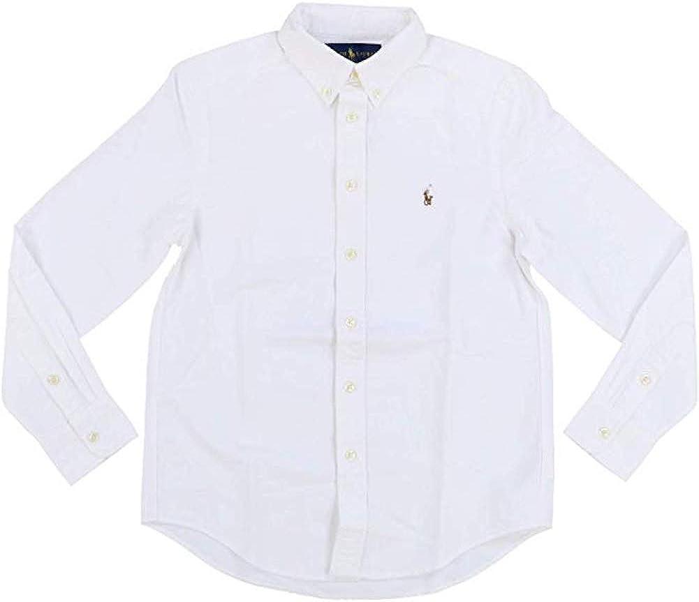 Polo Ralph Lauren boys Cotton Oxford Sport Shirt (Little Kids/Big Kids)