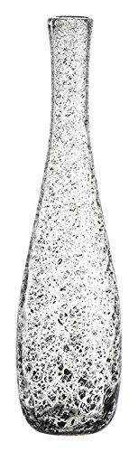 Leonardo Giardino Glas-Vase, handgefertigte Deko-Vase in Grau, bauchige Blumen-Vase, Höhe: 400 mm, 034910