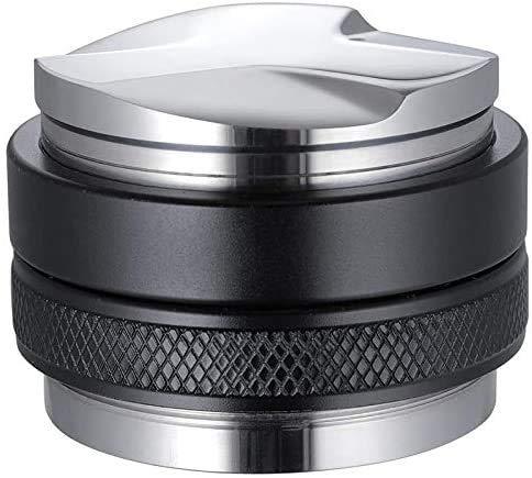 DMYX 53 mm Doppelkopf-Kaffeetuner für 54 mm Siebträger mit einstellbarer Tiefe, professioneller manueller Espressokocher