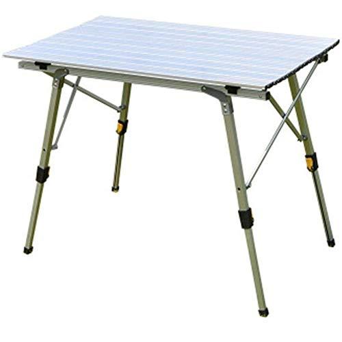 1yess Tragbare Folding Picknick-Tisch Wasserdichtes haltbares Camping Tisch Falten Freier Klapptisch Camping Alloy Picknick-Tisch Klapptisch Schreibtisch Strand-Tabellen 8bayfa