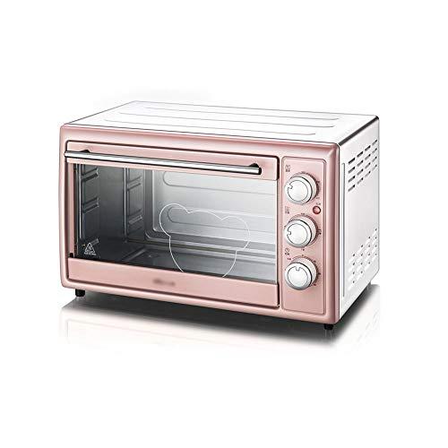 Chun Li Mini-four électrique - Mini-four multifonction multifonction rose 30L, ménage en acier inoxydable, 48,5x28x30,5cm four grille-pain (Color : Pink)