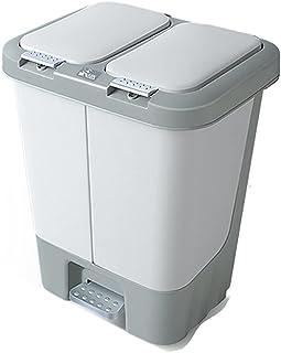 Trash Can Garbage Can STEP-ON TRASH يمكن، يمكن أن تكون القمامة الخطوة المزدوجة، التخلص من الأيدي، إعادة تدوير صندوق القمام...
