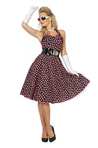 50er Jahre Damen Kostüm Rock'n Roll Kleid Karneval Fasching Gr.38