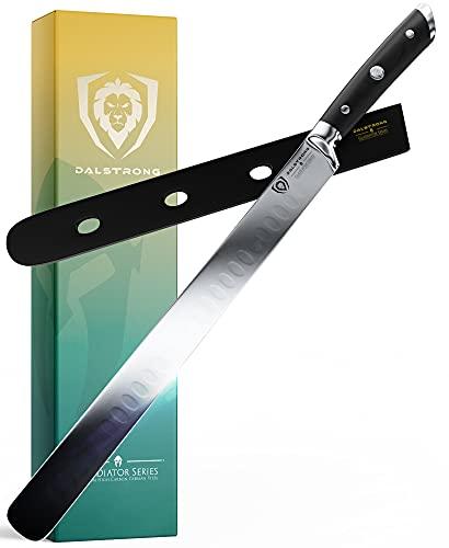 "DALSTRONG Slicing & Carving Knife - 12"" - Gladiator Series - Granton Edge - German HC Steel - G10 Handle - w/ Sheath - NSF Certified"