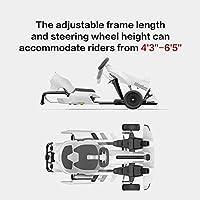 Hoverkart Go-Kart Kit Patinete Eléctrico, Longitud Ajustable, Compatible 100% con Hoverboards - Hoverboard No Incluido con Todos los patinetes Kit de kart modificado Ninebot Xiaomi No. 9 balance car