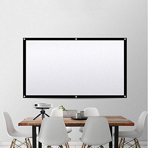 Yuehjnba Projection Screen Portable Projector Screen 4:3 HD Movie Screen Foldable for Home Theater Cinema Indoor Best Outdoor Movie Screen (Color : Black, Size : 200inch)